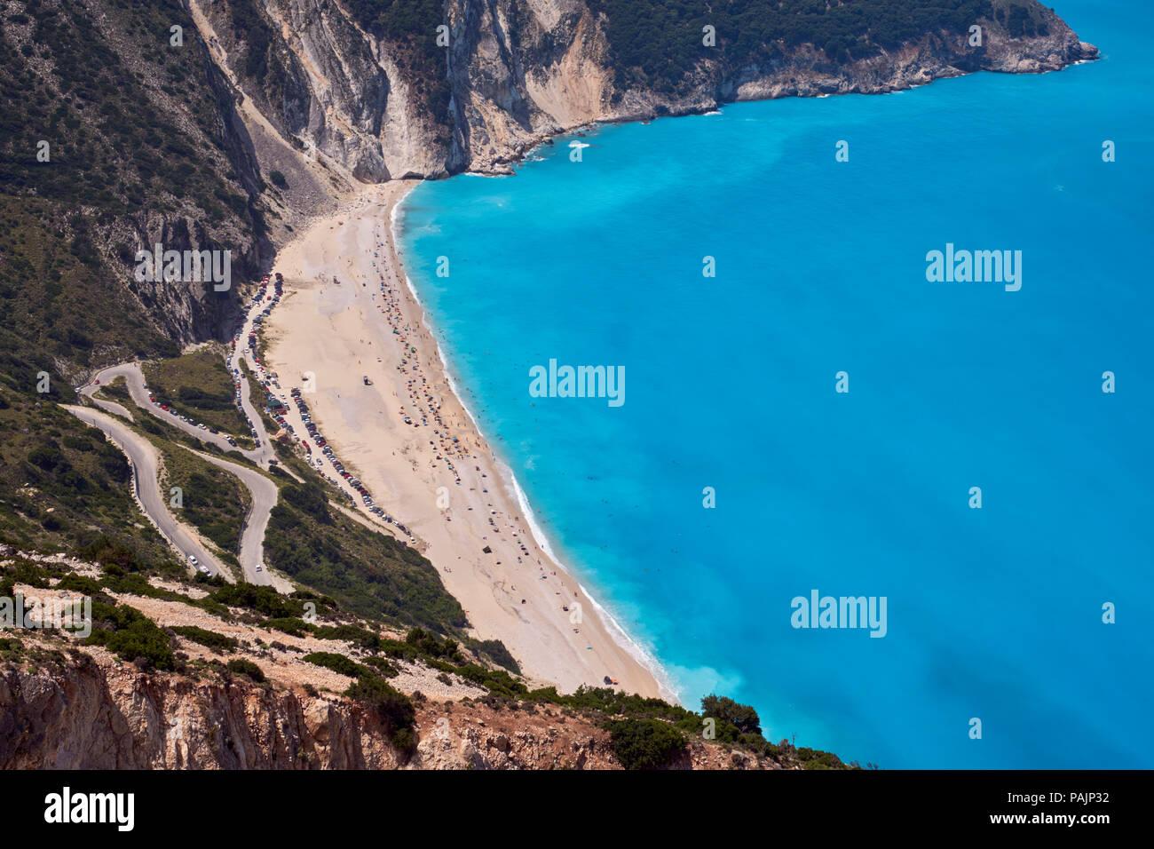 Myrtos Beach.  Cephalonia, Ionian Islands, Greece. - Stock Image