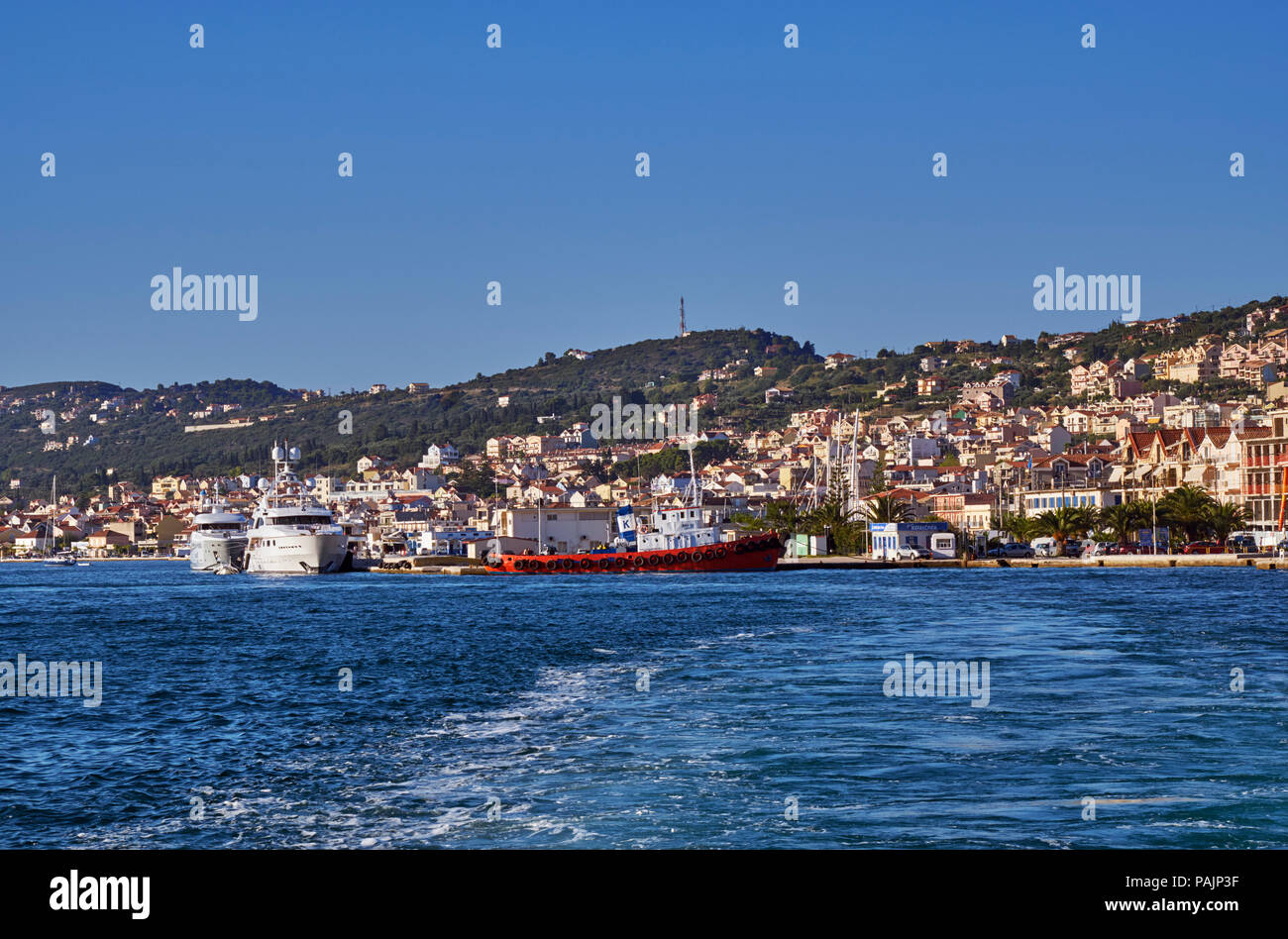 Port and town of Argostoli. Cephalonia, Ionian Islands, Greece. - Stock Image