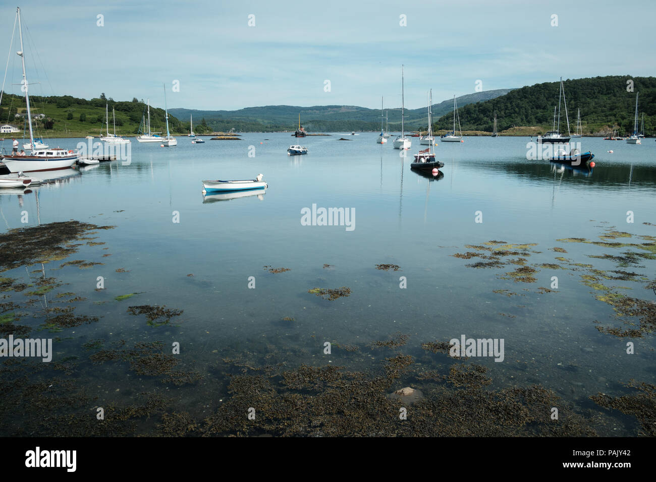 Harbour at Tayvallich, Argyll, West Coast of Scotland , on the banks of Loch Sween Stock Photo