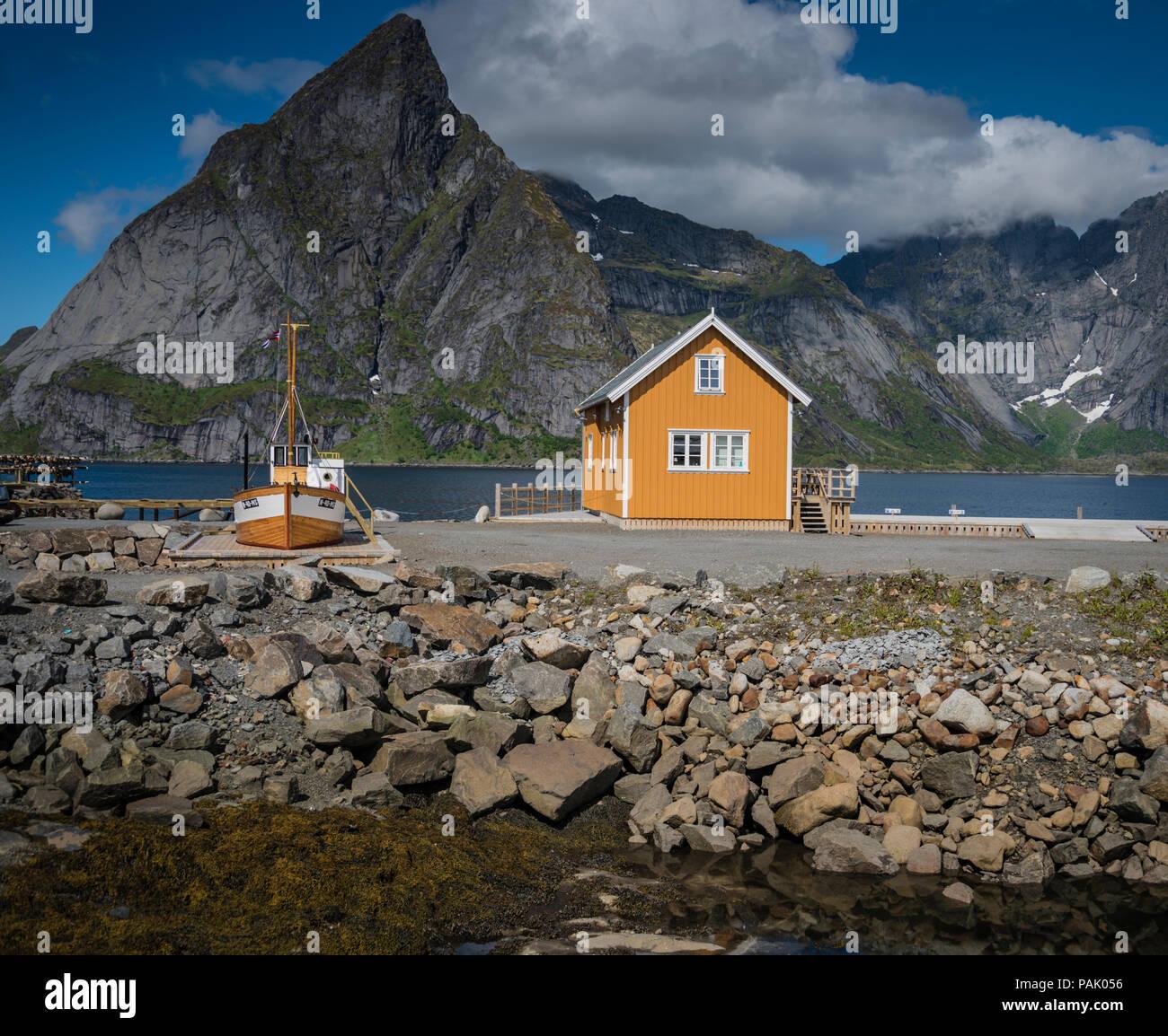 Reine, Lofoten Islands, Norway. Stock Photo