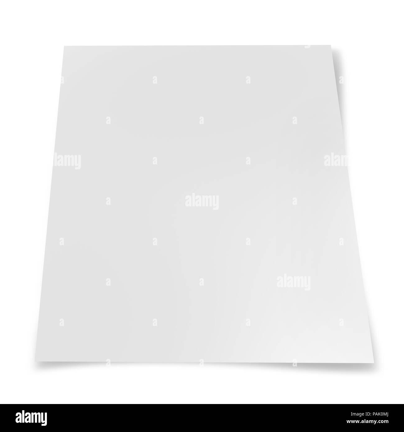Paper sheet  isolated on  white background - Stock Image