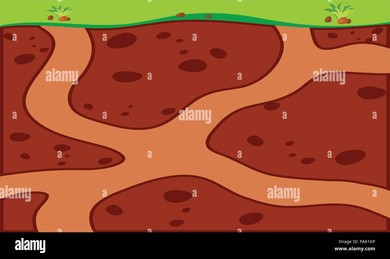 Animal habitat hole underground illustration - Stock Vector