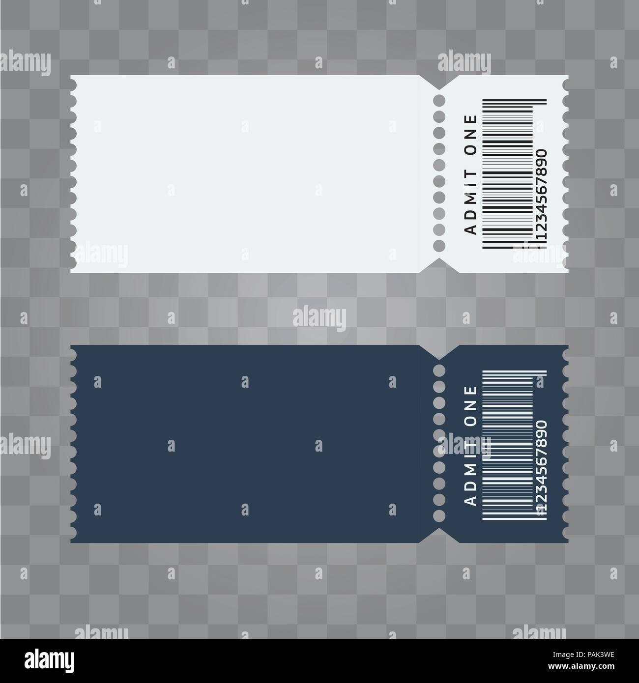 vector ticket template design trendy blank ticket template layout