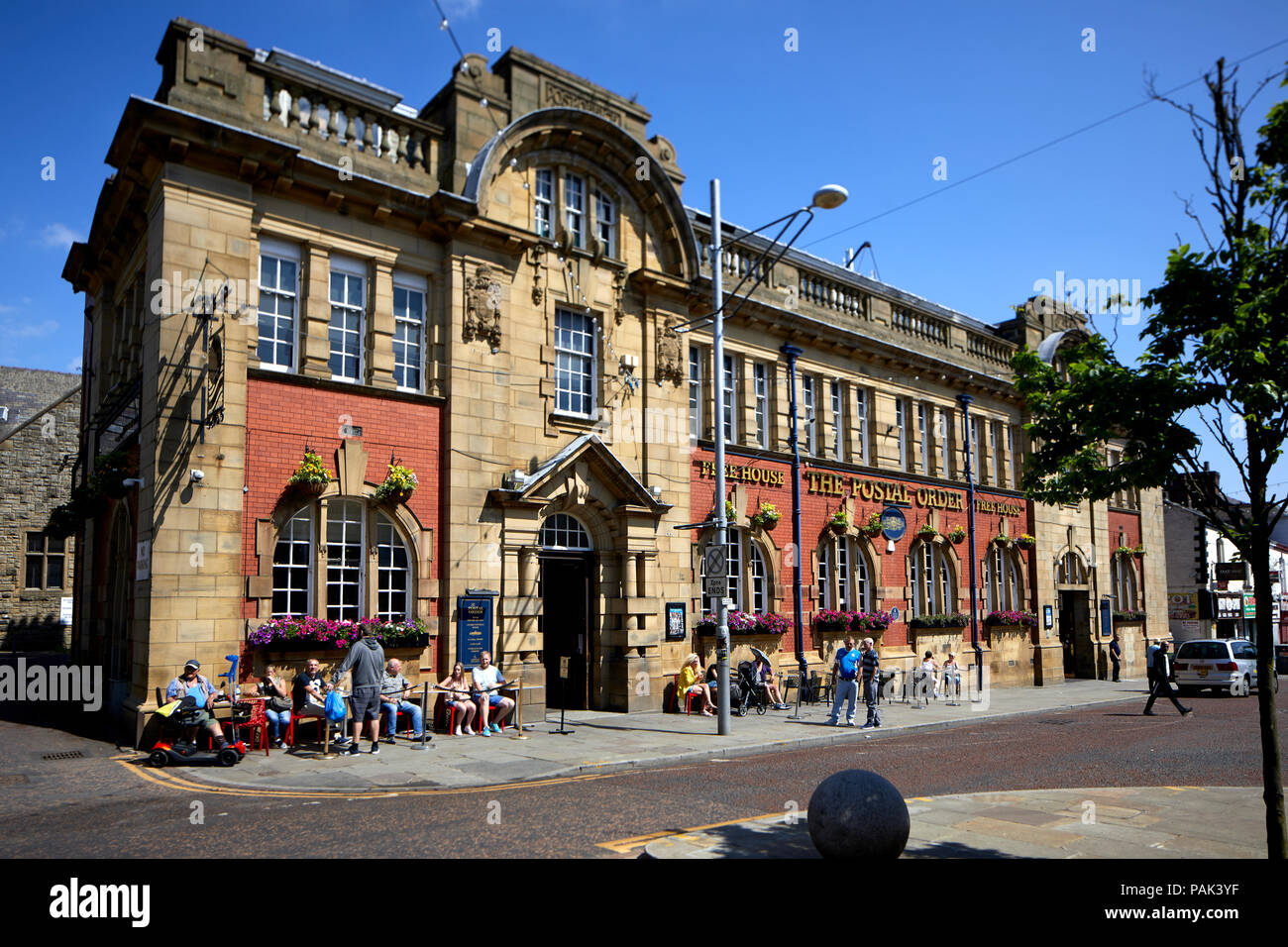 Blackbun town centre  in Lancashire, Blackburn's former general post office, grand, Edwardian now The Postal Order  a large  Wetherspoon pub - Stock Image