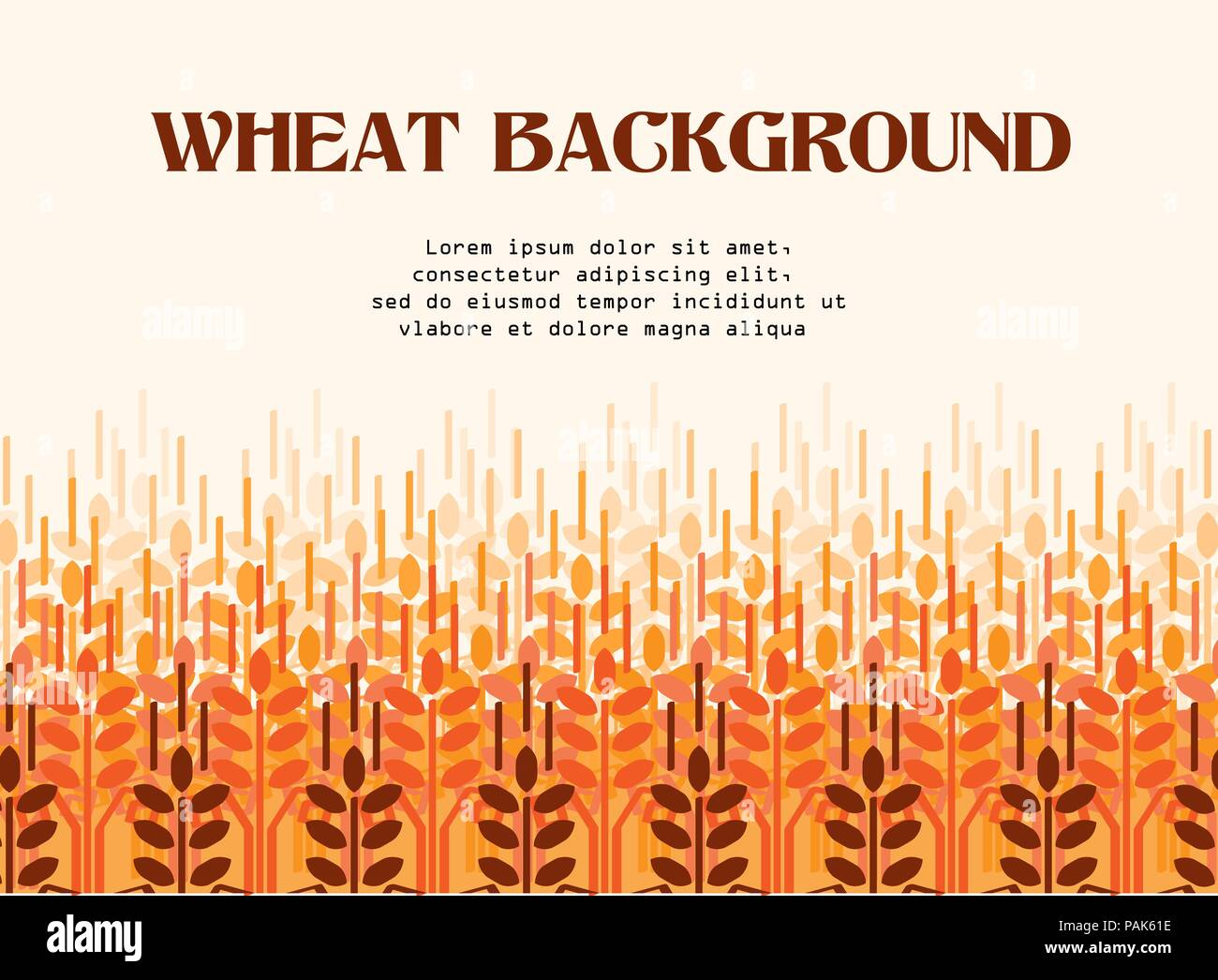Wheat ears background. Agriculture background. - Stock Vector