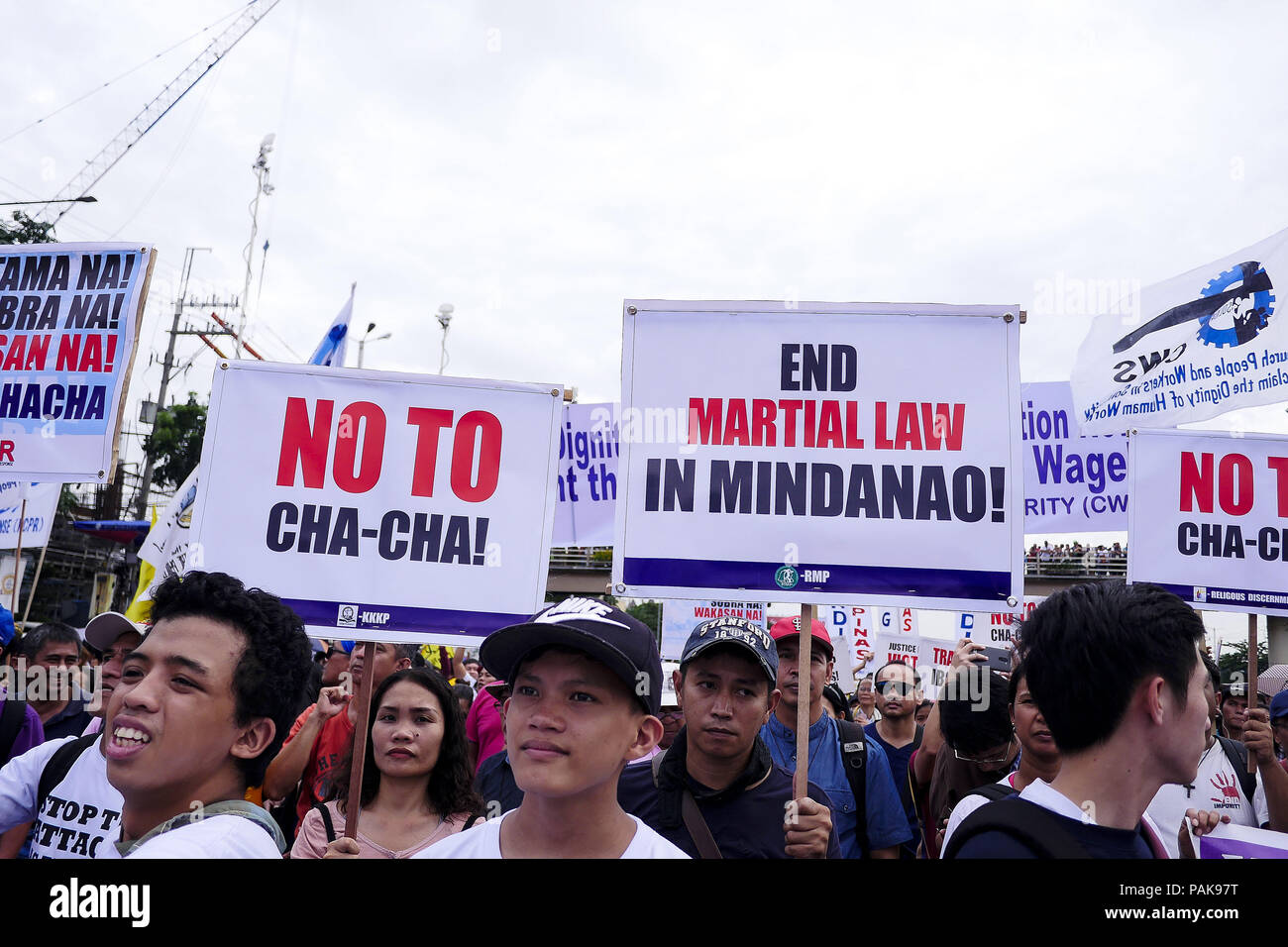 Quezon City, National Capital Region, Philippines. 23rd July, 2018.  Protesters gather