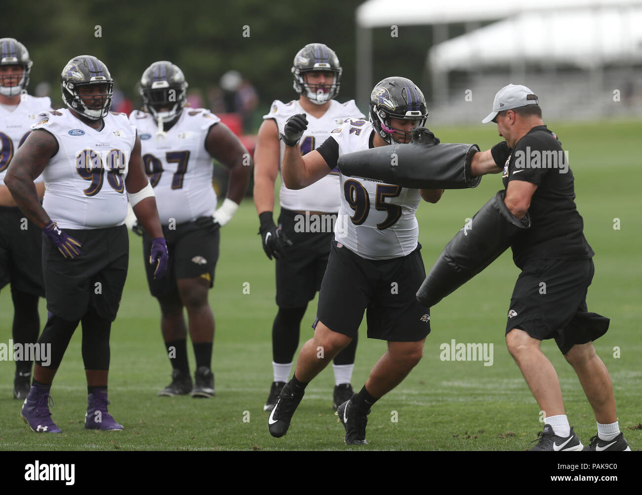 super popular 6a7e1 3d8b6 Baltimore, USA. 23rd July 2018. Baltimore Ravens DT Zach ...