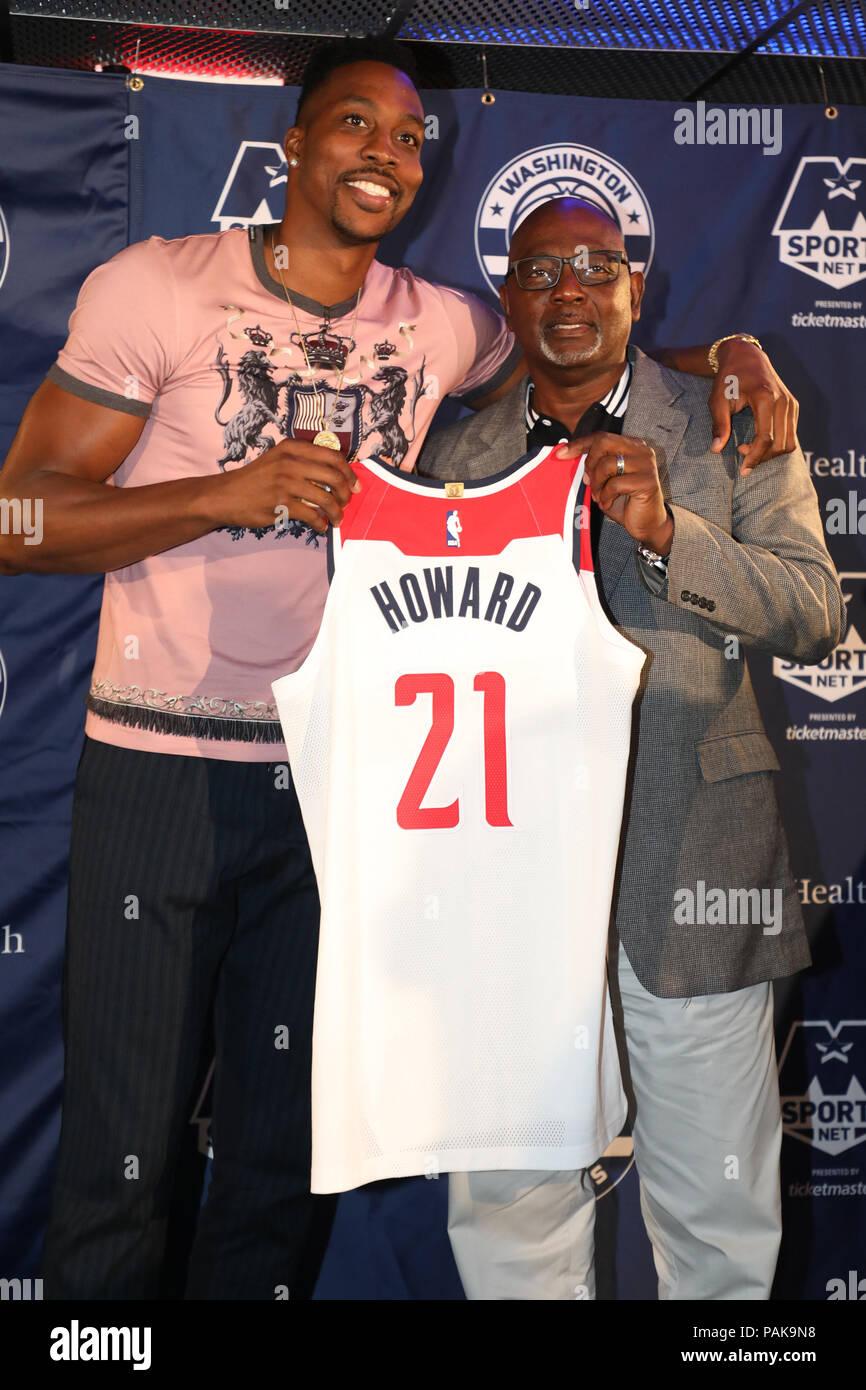 huge discount a6c09 2ca64 Washington, USA. 23rd July 2018. Dwight Howard and Dwight ...