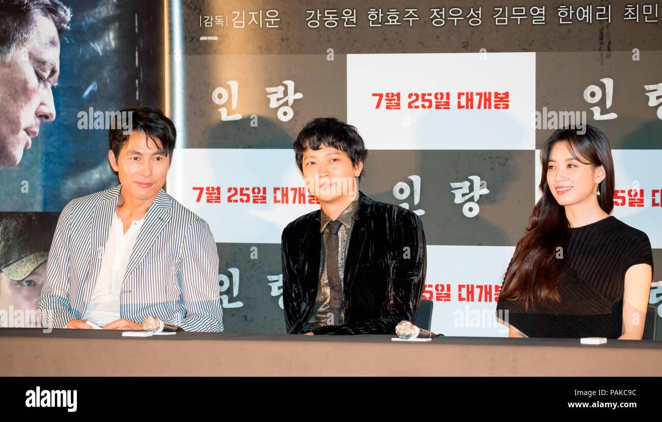 Jung Woo-Sung, Gang Dong-Won and Han Hyo-Joo, July 20, 2018