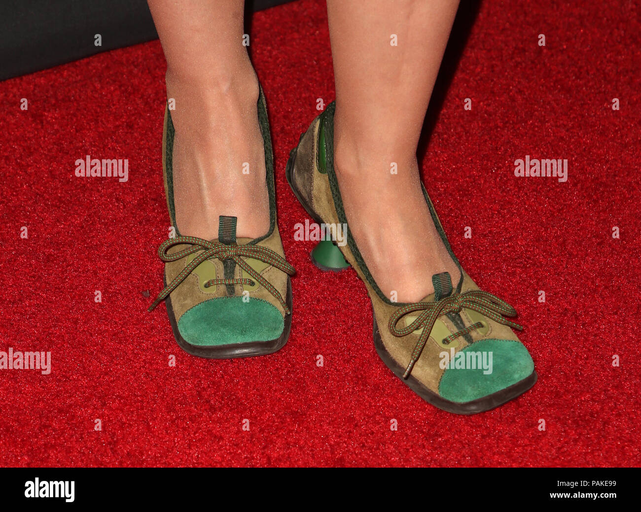 West Hollywood, Ca. 23rd July, 2018.  Lisa Pelikan, at the Los Angeles Premier of The Wife at the Pacific Design Center in West Hollywood, California on July 23, 2018. Credit: MediaPunch Inc/Alamy Live News Stock Photo