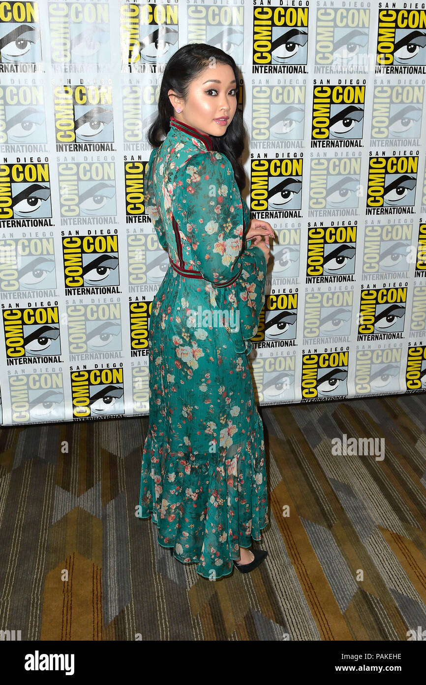 San Diego, USA  21st July, 2018  Lana Condor at the