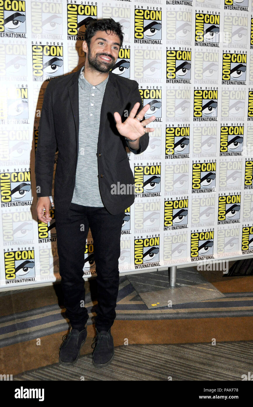 San Diego, USA. 21st July, 2018. Sean Teale at the Photocall for the Fox TV series 'The Gifted' at the San Diego Comic-Con International 2018 at the Hilton Bayfront hotel. San Diego, 21.07.2018 | usage worldwide Credit: dpa/Alamy Live News - Stock Image