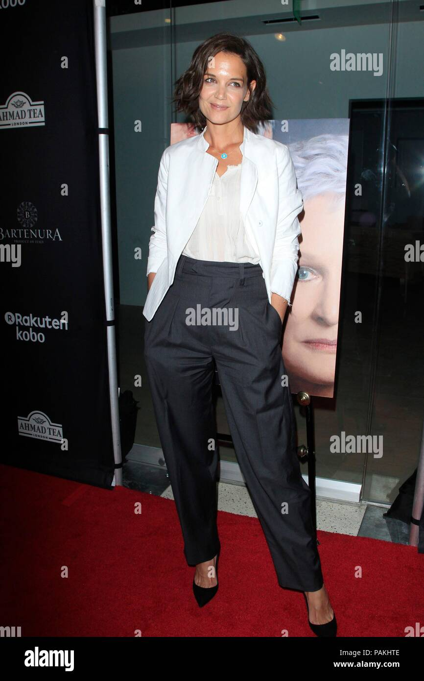 West Hollywood, CA. 23rd July, 2018. Katie Holmes at arrivals for THE WIFE Premiere, Pacific Design Center, West Hollywood, CA July 23, 2018. Credit: Priscilla Grant/Everett Collection/Alamy Live News Stock Photo