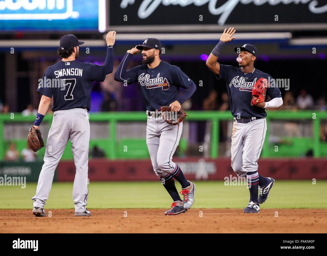 low priced dfacd a0b96 Miami, Florida, USA. 23rd July, 2018. Atlanta Braves ...