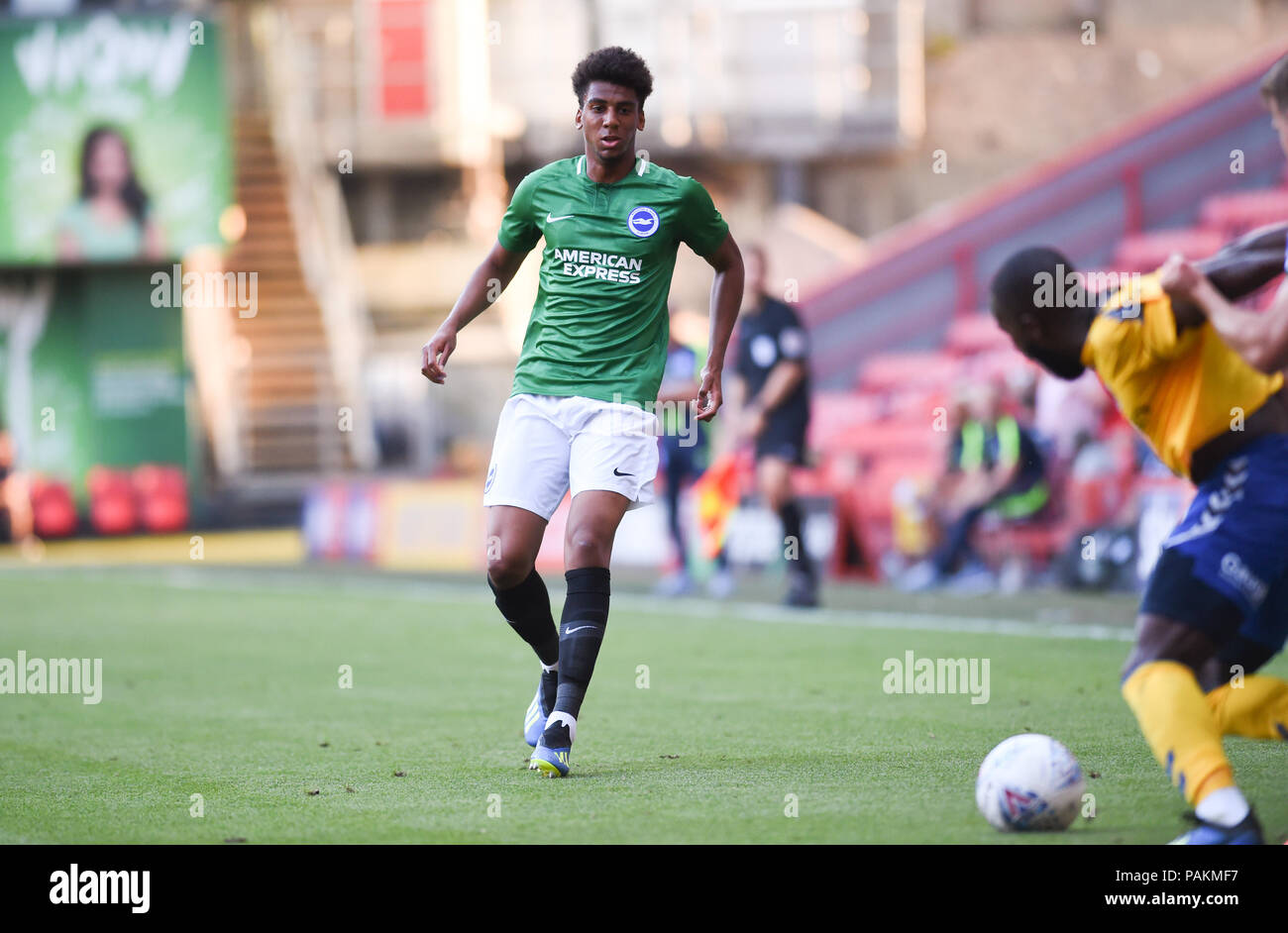 London UK 24th July 2018 - Bernardo of Brighton during the pre season friendly football match between Charlton Athletic and Brighton and Hove Albion  at The Valley stadium   Credit: Simon Dack/Alamy Live News - Stock Image