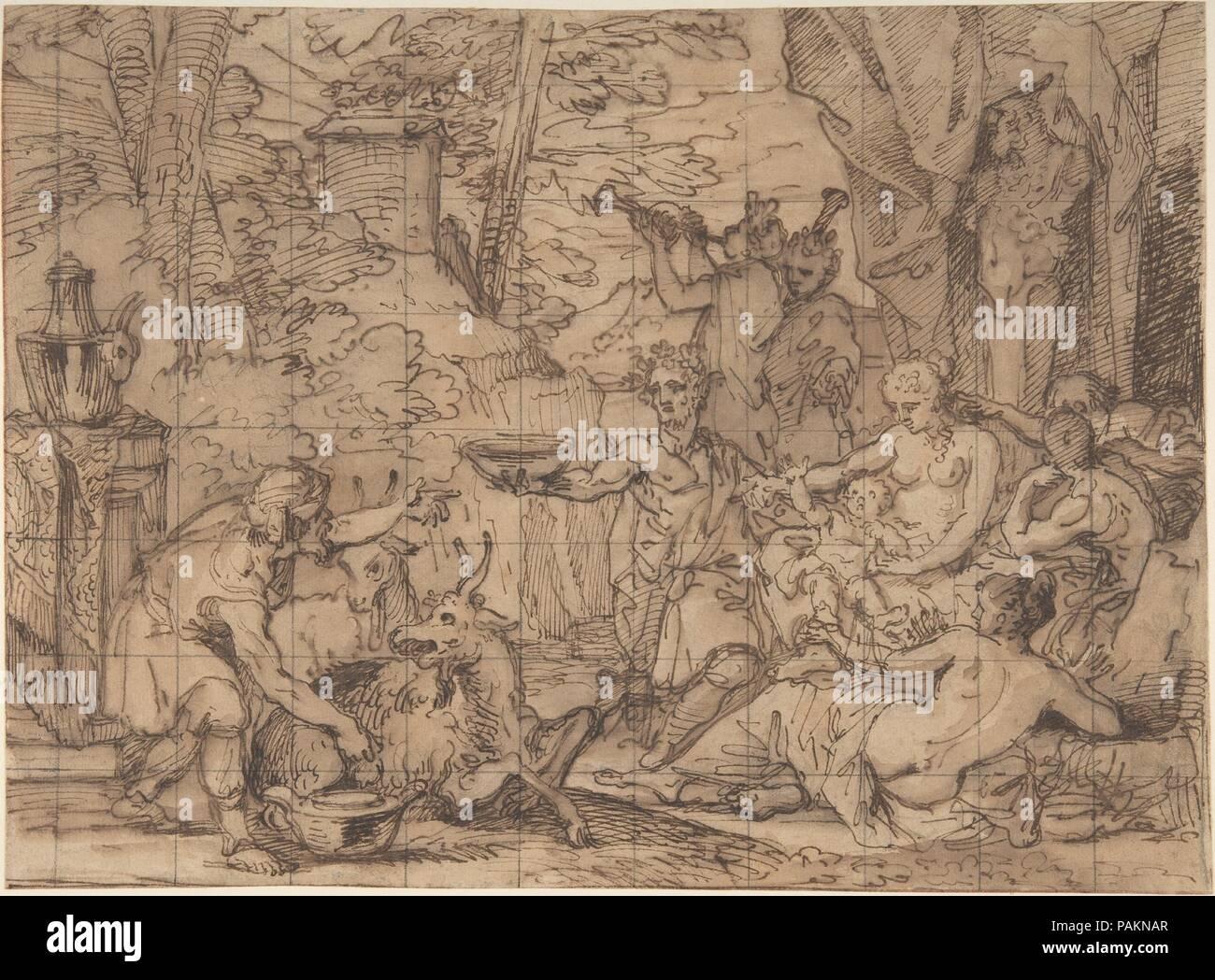 The Nurture of Jupiter. Artist: Jean-Baptiste Corneille (French, Paris 1649