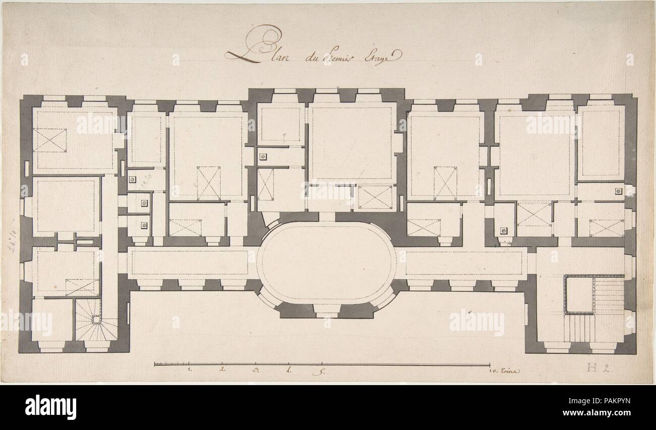 Ground Plan For Second Floor Of A Palace Artist Degana Designer Designed By Raux Dimensions 9