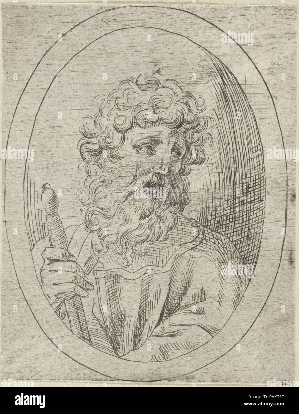Saint Paul holding a sword, in an oval frame, from Christ, the ...