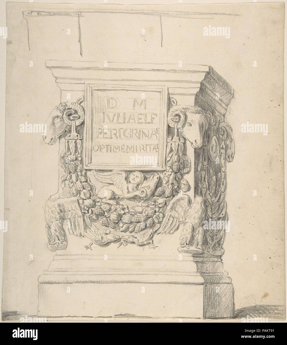 Sketch Of A Classical Pedestal Artist Attributed To Thomas Hardwick British London