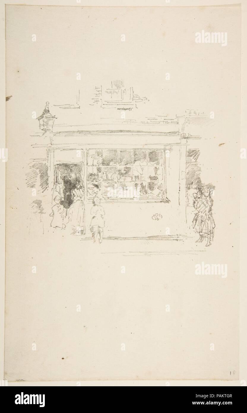 Drury Lane Rags. Artist: James McNeill Whistler (American, Lowell, Massachusetts 1834-1903 London). Dimensions: Image: 6 5/16 × 5 13/16 in. (16 × 14.7 cm)  Sheet: 12 3/8 × 7 13/16 in. (31.5 × 19.8 cm). Date: 1888. Museum: Metropolitan Museum of Art, New York, USA. - Stock Image