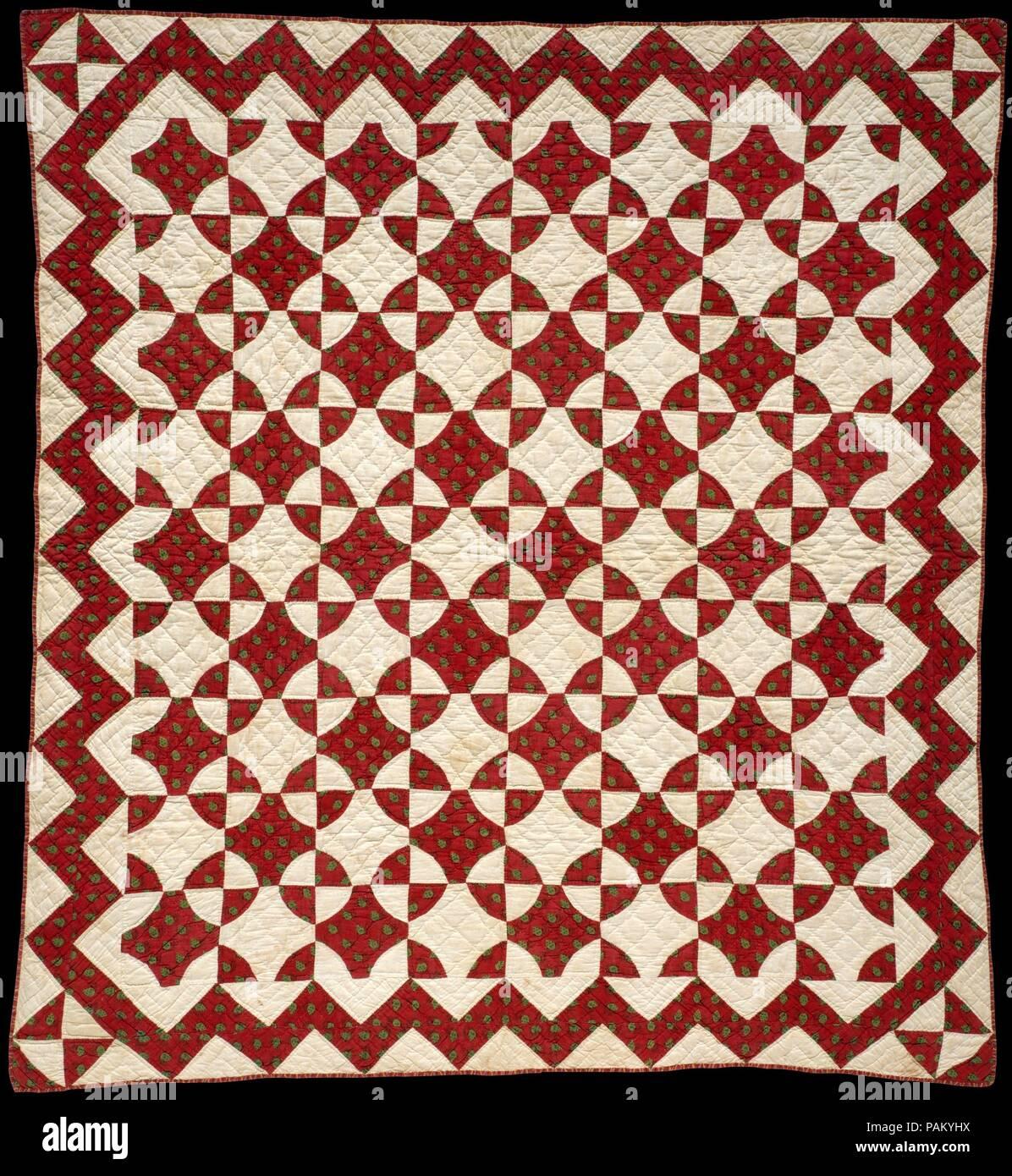 Crib Quilt, Mill Wheel pattern  Culture: American