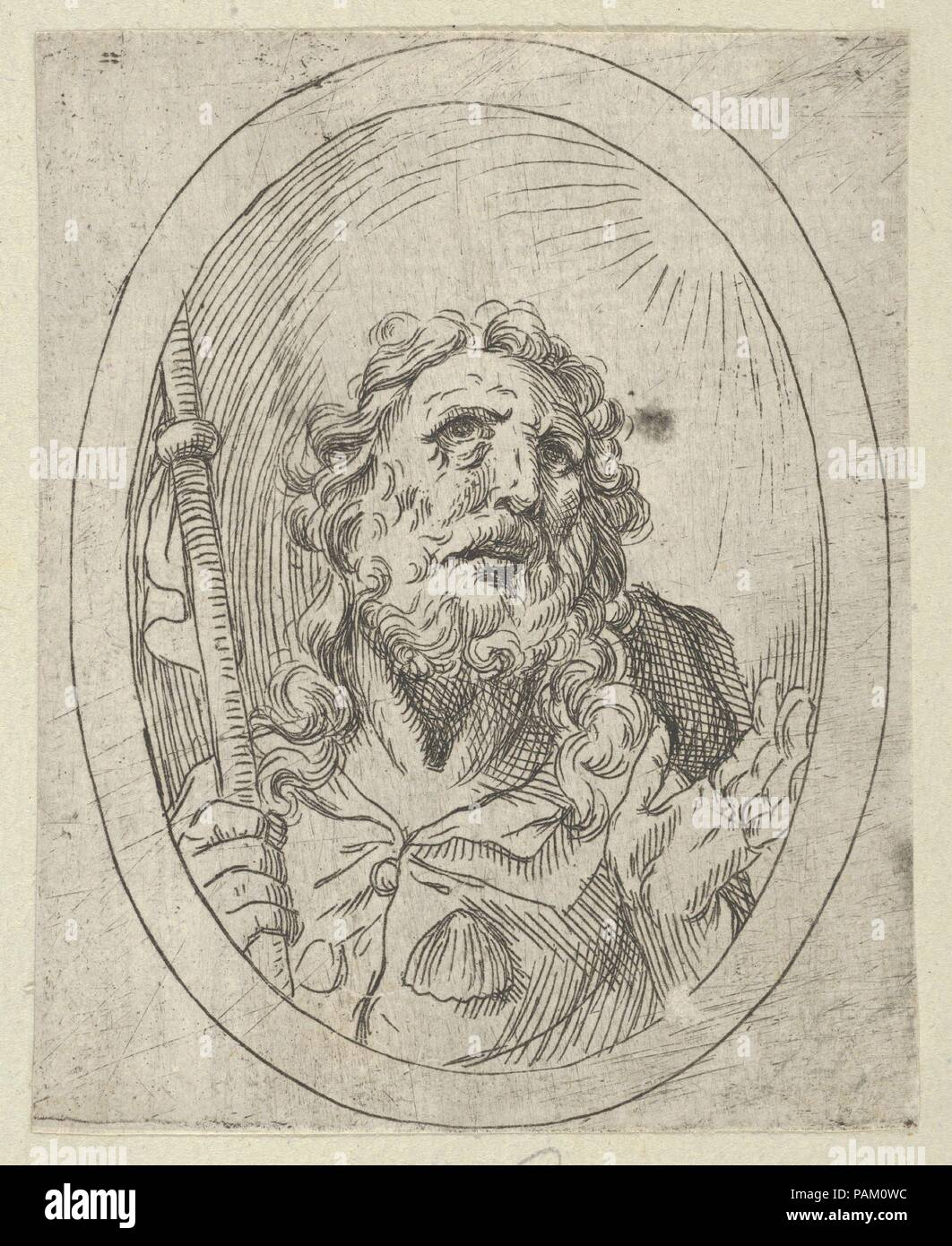 Saint James Major, looking upwards and holding a staff, from Christ ...