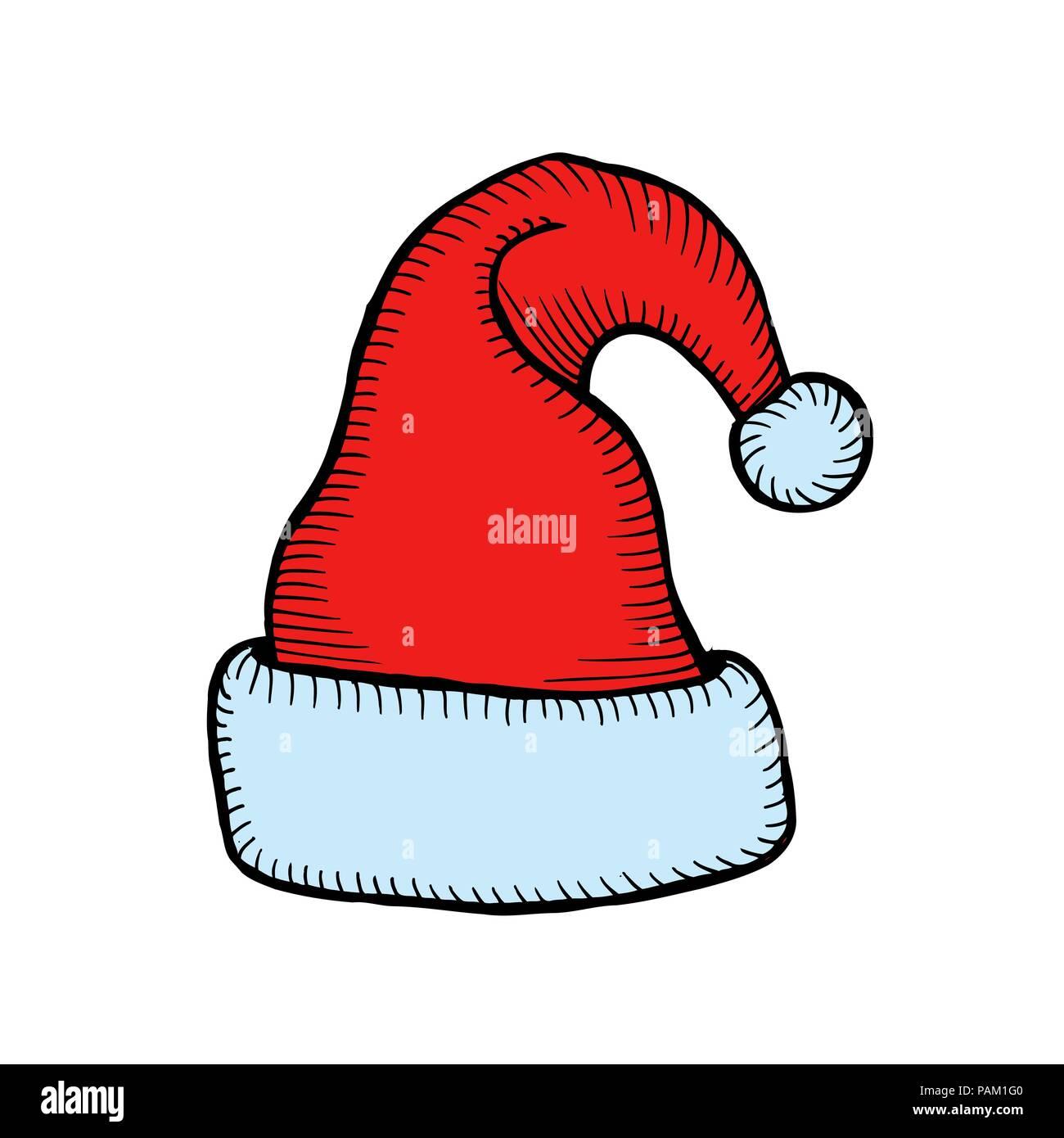 44083e6cf6f Hand-Drawn Santa Claus Hat Christmas Accessory
