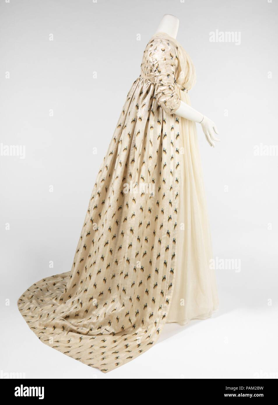 Evening overdress. Culture: British. Date: 1797-99. This lovely ...