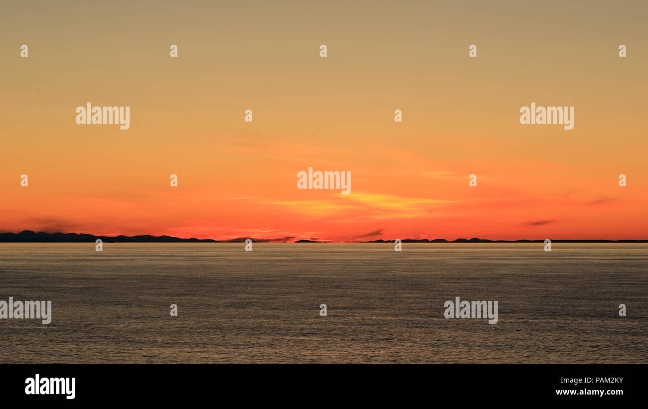The Minch from Stoer Head at Sunset Stock Photo