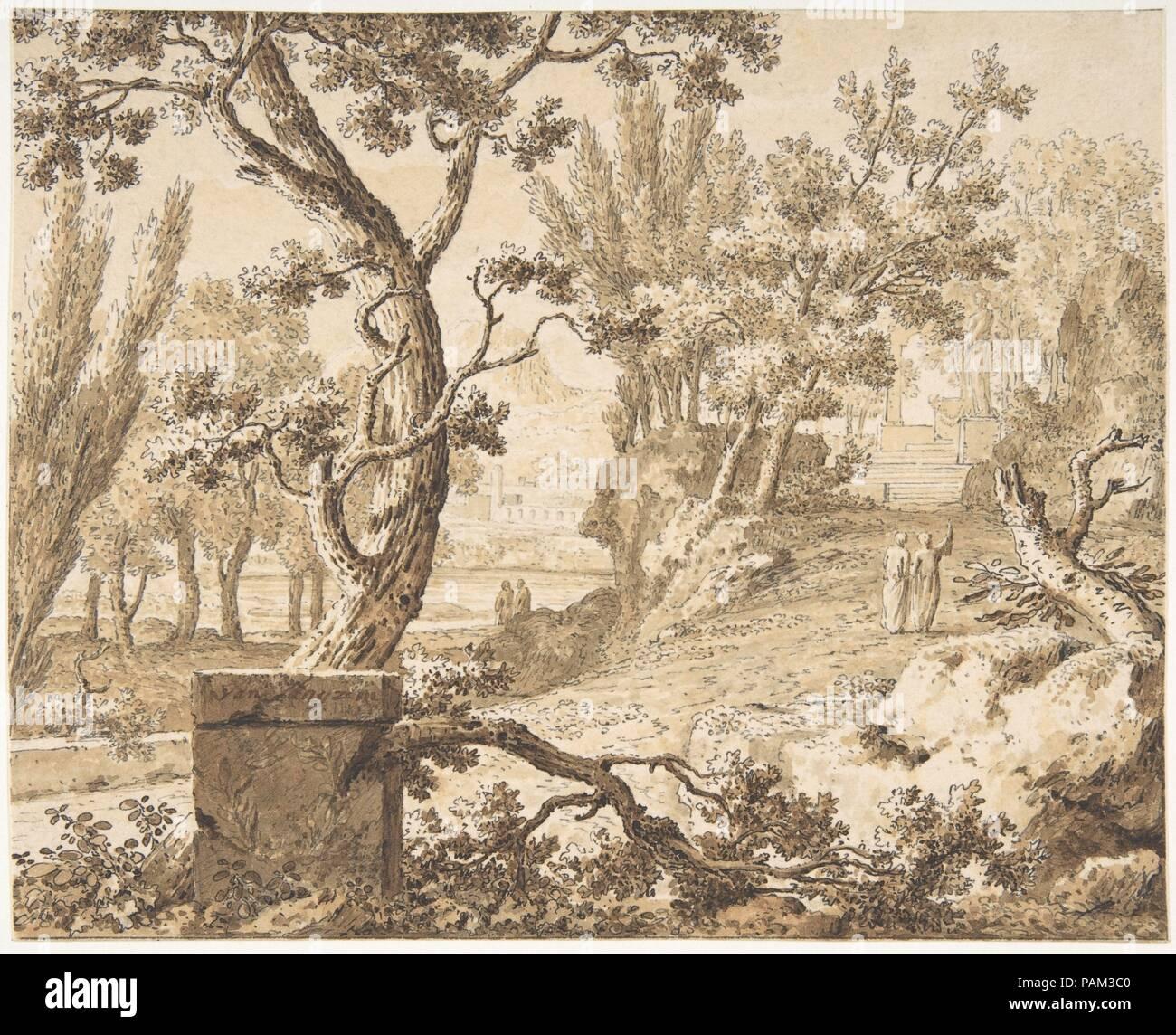 Arcadian Landscape with Figures  Artist: Johannes de Bosch