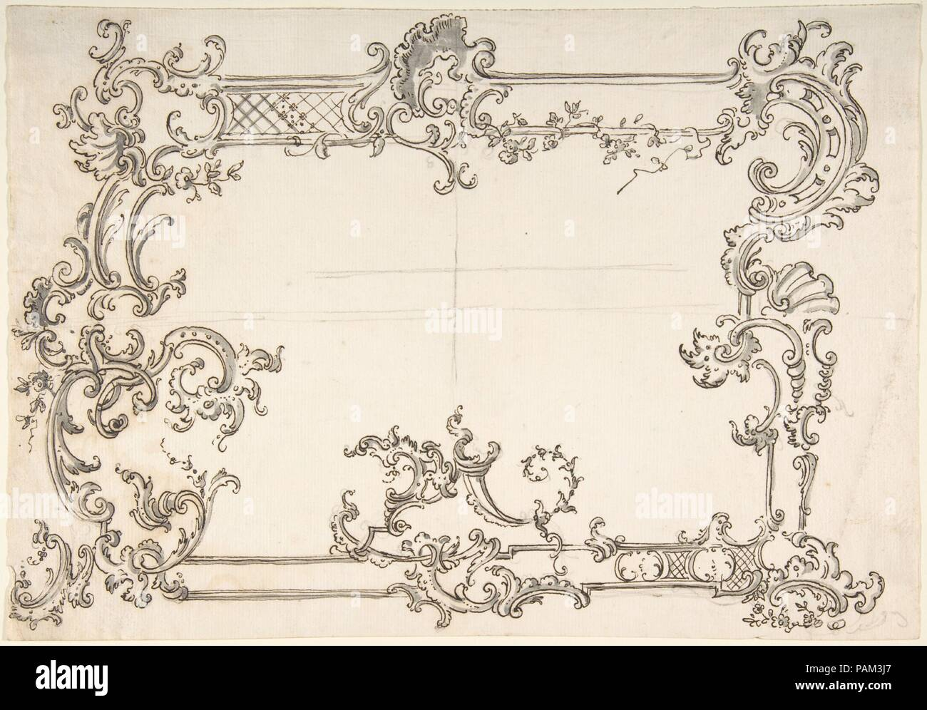 Rococo Design For A Frame Artist Anonymous Italian 18th Century