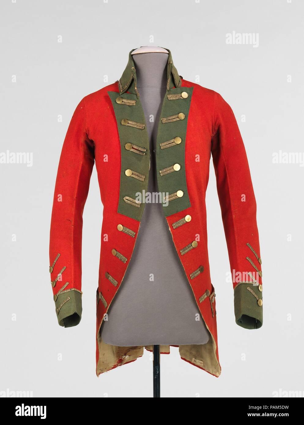 Military coat  Culture: American  Date: 1775-83  This