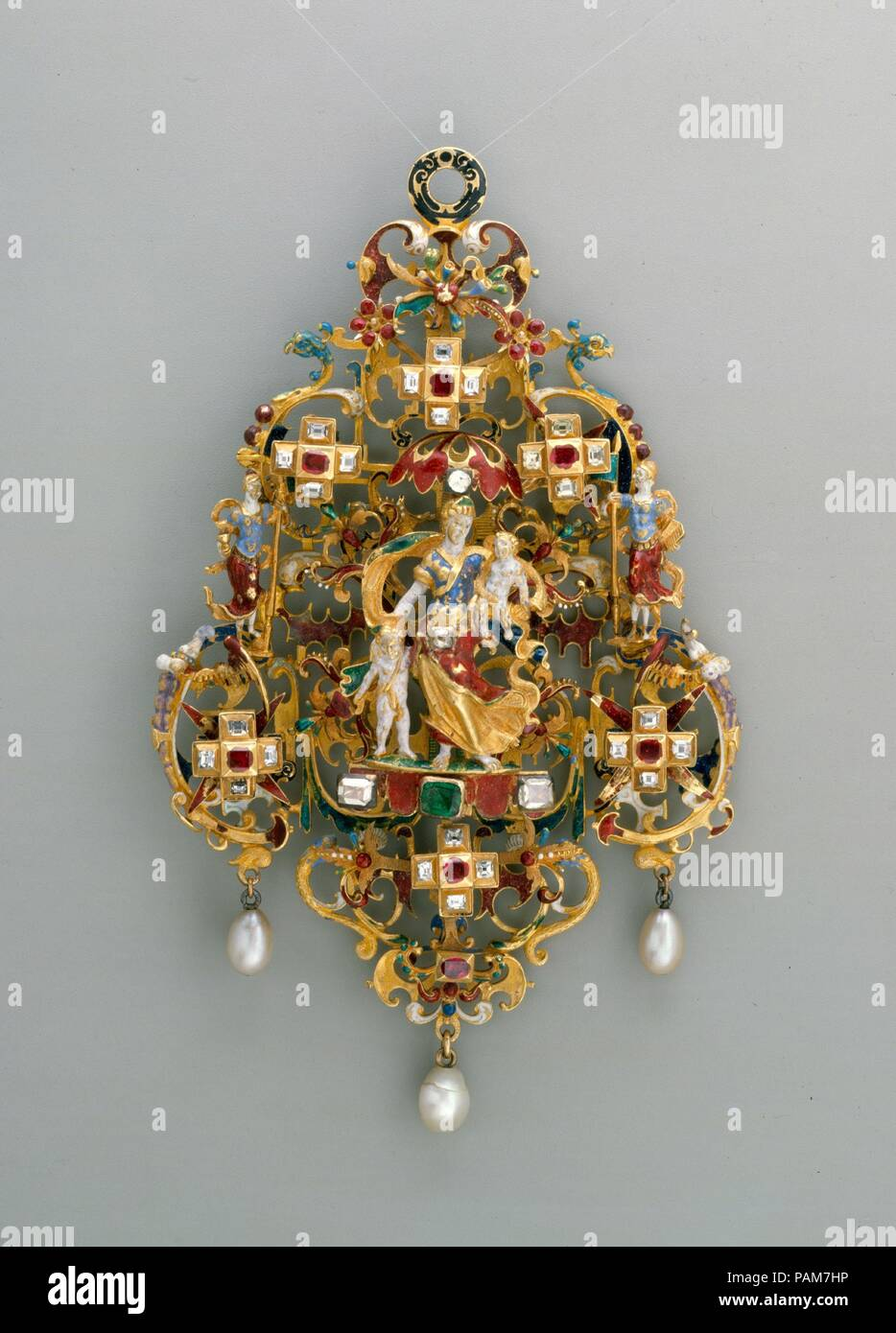 Pendant with Charity and Her Children. Culture: probably German ...