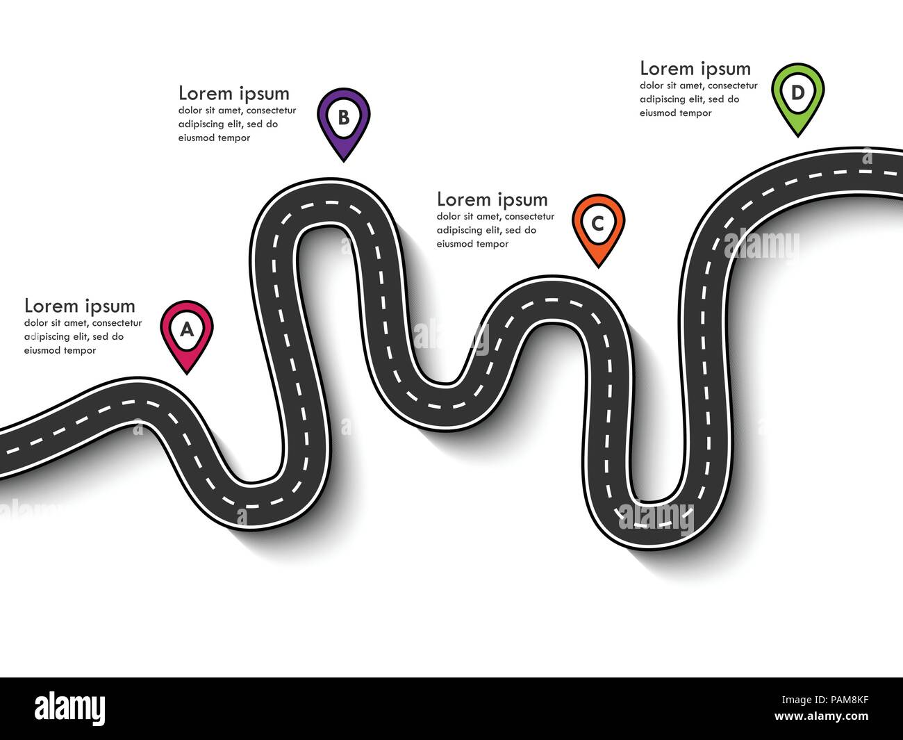 road trip and journey route business and journey infographic design