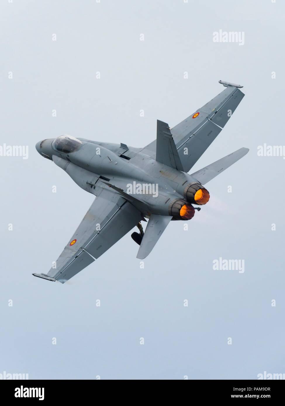 F-18 Hornet SpainStock Photo