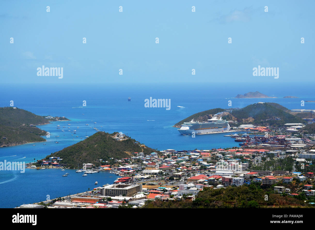 Charlotte Amalie, St. Thomas USVI, the capital of U.S. Virgin Islands Stock Photo