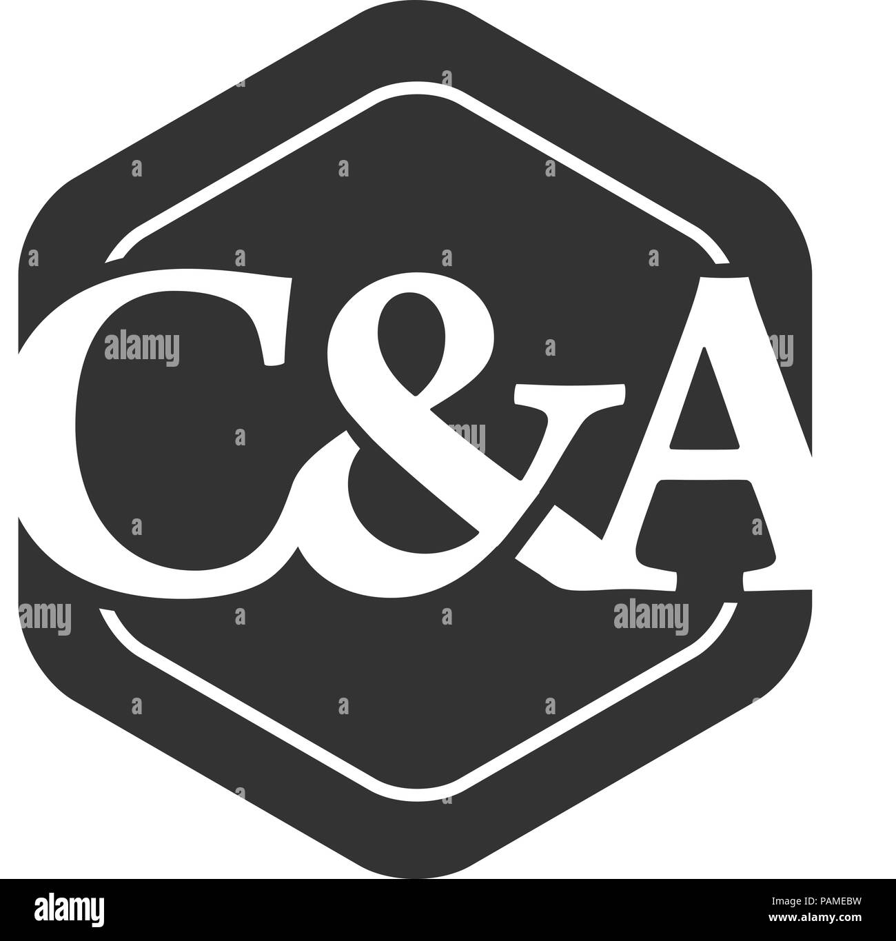 Letter C A Hexagon Logo C And A Letter Logo Design Vector Illustration Template Creative Letter C A C And A Logo Stock Vector Image Art Alamy