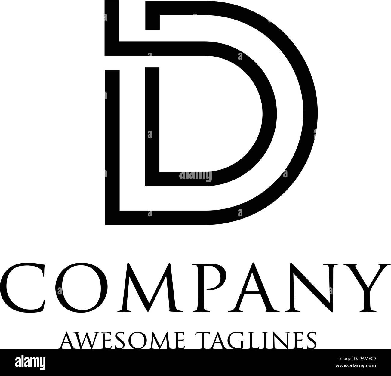 Creative Letter D Logo Abstract Business Logo Design