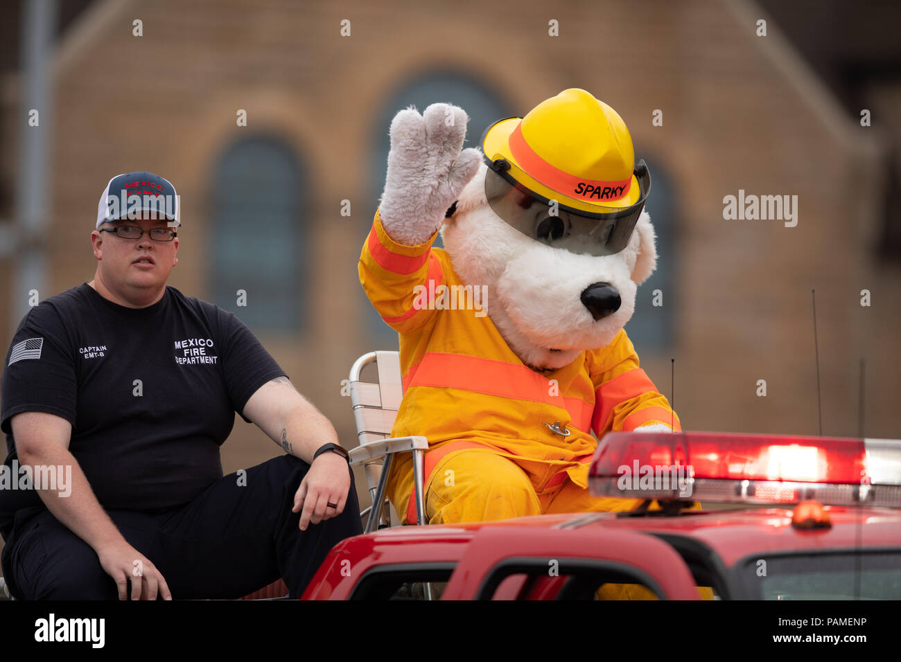 Fire Department Mascot Stock Photos