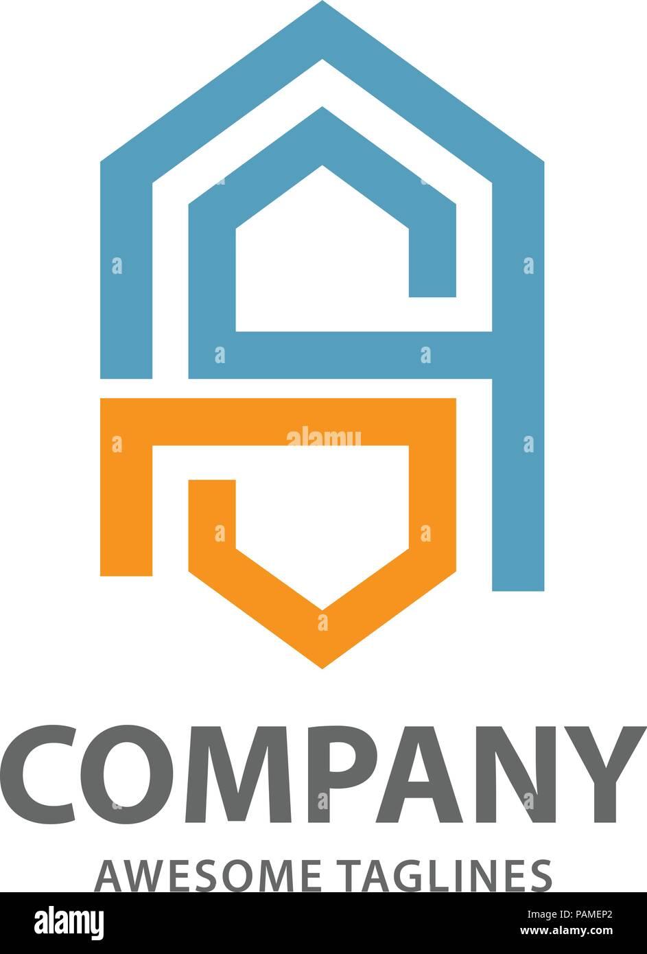 Abstract letter SA logo,letter AS letter S alphabet symbol Vector illustration - Stock Vector