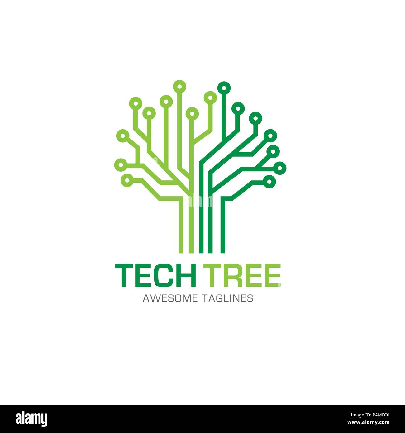 tech tree logo concept- vector logo concept illustration ...