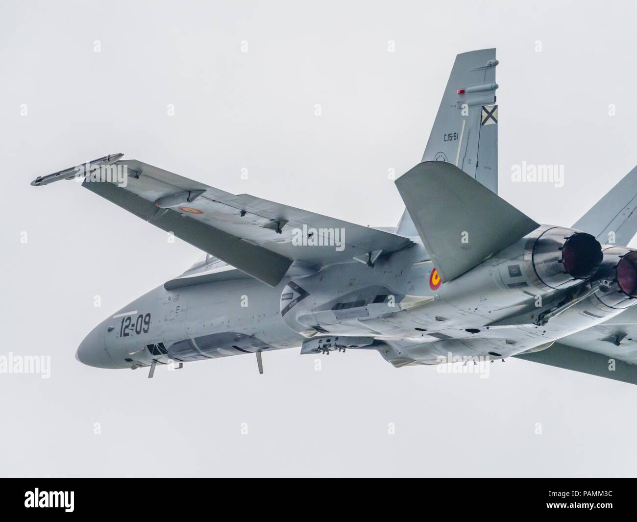 F-18 Hornet Spain fly-by Stock Photo