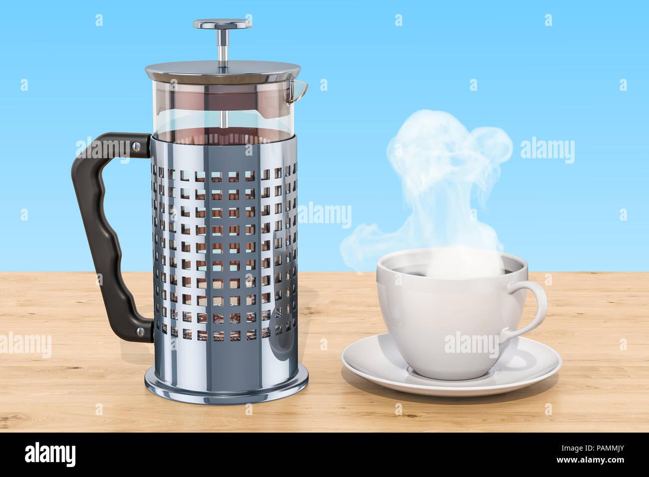 Illustration French Coffee Press Stock Photos & Illustration French ...