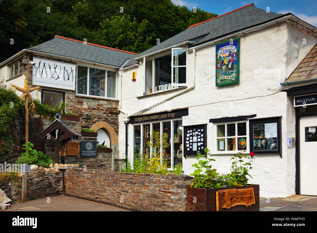 2 July 2018: Boscastle, Cornwall, UK - The Museum of Witchcraft. Stock Photo