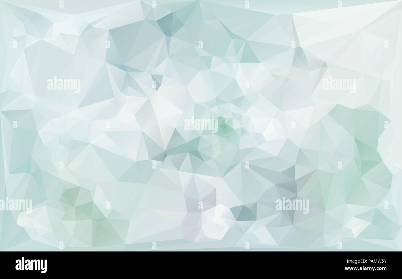 gentle abstract poligonal background in light bluetones - Stock Vector