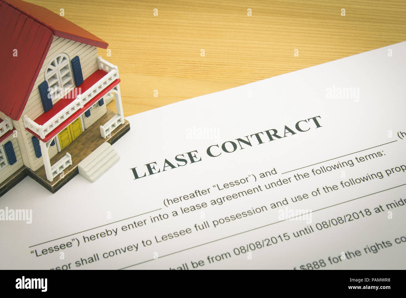 Home Lease Contract Or House Lease Contract Agreement Concept About