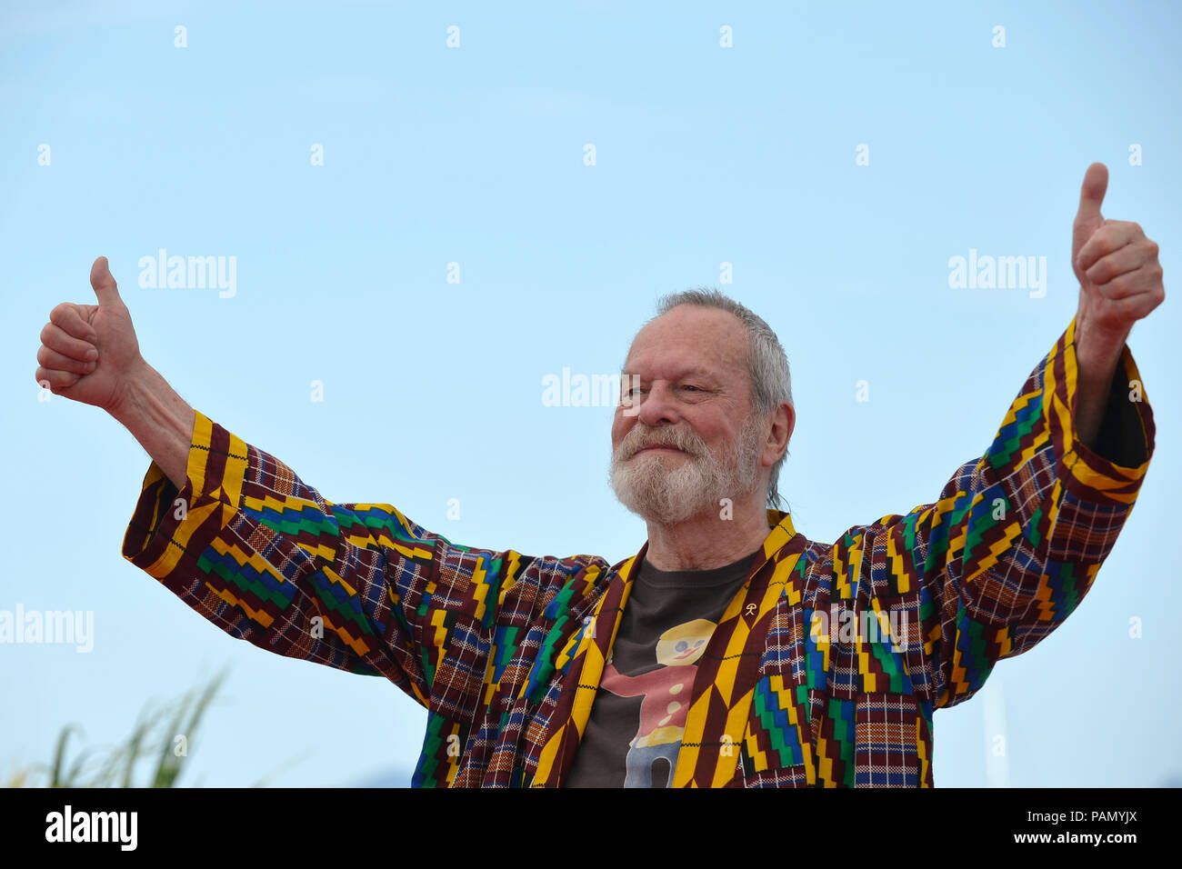 71st Cannes Film Festival: director Terry Gilliam here for the promotion of the film 'The Man Who Killed Don Quixote - L'homme qui tua Don Quichotte', - Stock Image