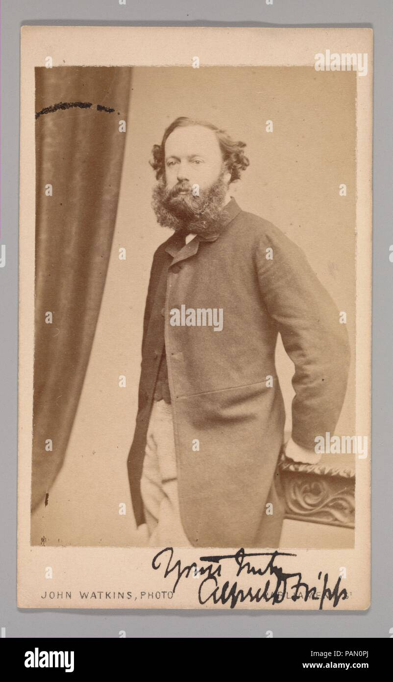 [Alfred Downing Fripp]. Dimensions: Approx. 10.2 x 6.3 cm (4 x 2 1/2 in.). Photography Studio: John and Charles Watkins (British, active 1867-71). Date: 1860s. Museum: Metropolitan Museum of Art, New York, USA. - Stock Image