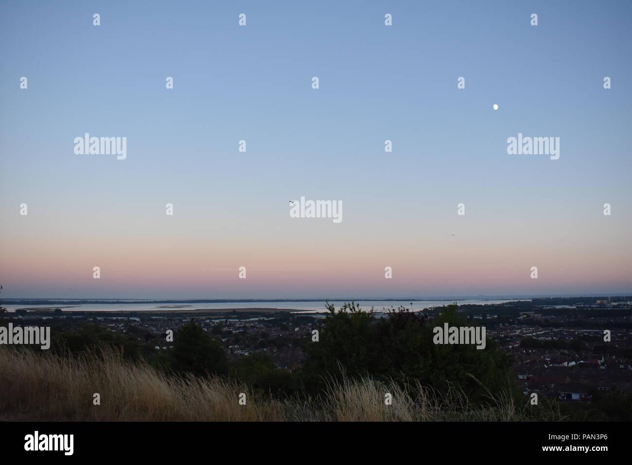 Sunset over Portsmouth, Hampshire, England, UK - Stock Image