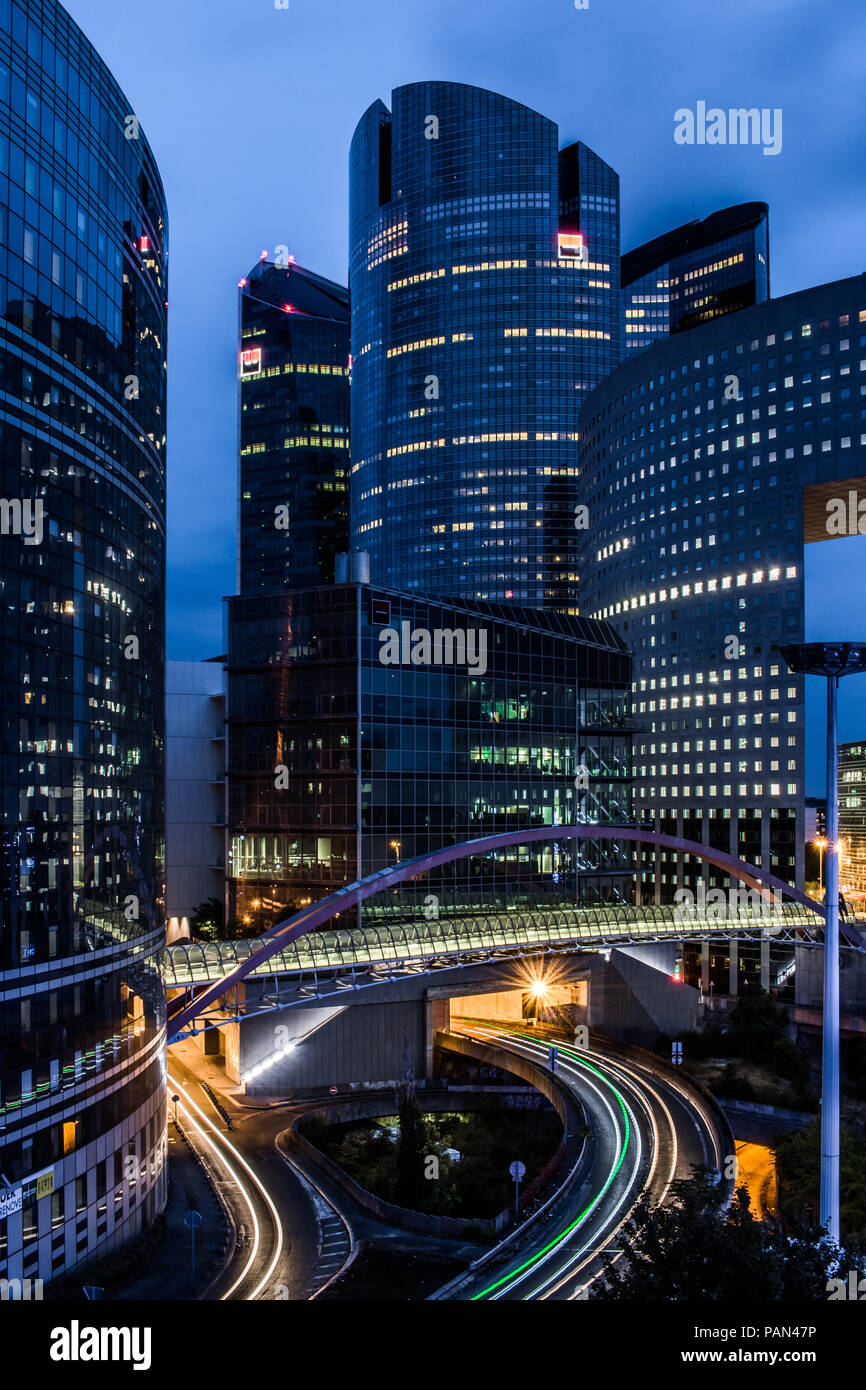 Picture of sky scrappers in la defense the financial district in paris france - Stock Image